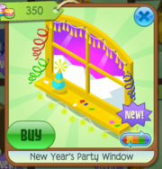 New Year's Party Window 1