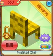 Pixelated Chair yellow back