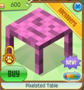 Pixelated Table 5