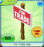 For Trade Sign