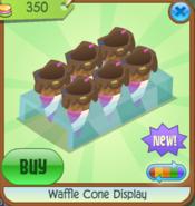 Waffle Cone Display pink