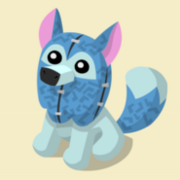 Item Exclusive Arctic Wolf Plushie blue