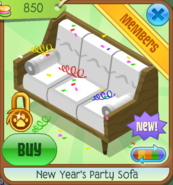 NYS New Year's Party Sofa white