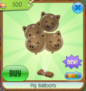PigBalloons Brown(10)