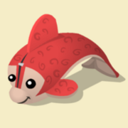 Item Exclusive Dolphin Plushie red