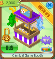 Carnival Game Booth Purple