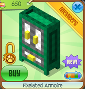 Shop Pixelated-Armoire Green