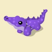 Item Exclusive Crocodile Plushie purple-star