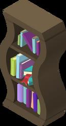 Wavy Bookshelf Brown