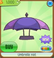 Umbrella Hat purple