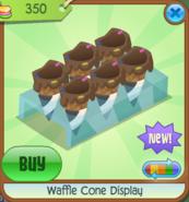 Waffle Cone Display black