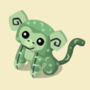 Item Exclusive Monkey Plushie green