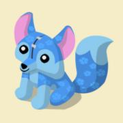 Item Exclusive Fox Plushie blue-flower