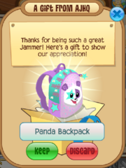 Panda power backpack promo