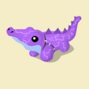 Item Exclusive Crocodile Plushie purple