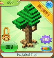 Shop Pixelated-Tree Green