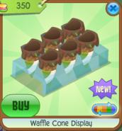 Waffle Cone Display green