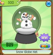 Light Green Snow Globe Hat