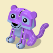 Item Exclusive Tiger Plushie purple