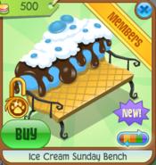 Ice Cream Sunday Bench blue