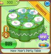 New-Years-Shop New-Years-Party-Table Green