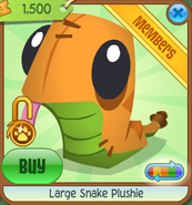 Large-Snake-Plushie Orange Shop