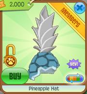 Light blue pineapple