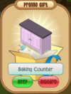 Baking counter