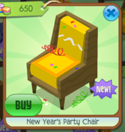 New Year's Party Chair