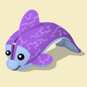 Item Exclusive Dolphin Plushie purple