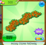 Mossy Stone Pathway orange