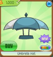 Umbrella Hat blue