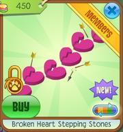 Broken Heart Step Stones Dark Pink