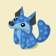 Item Exclusive Coyote Plushie blue-flower
