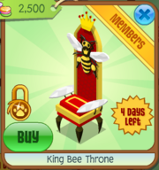 King Bee Throne