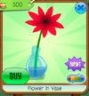 Flower in Vase - red