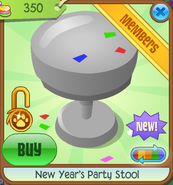 New-Years-Shop New-Years-Party-Stool Grey