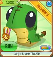 Large-Snake-Plushie Green Shop