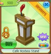 Cafe hostess stand 6
