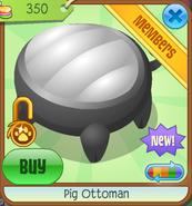 Shop Pig-Ottoman Black