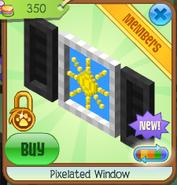 Pixelated window 6