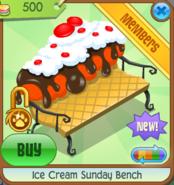 Ice Cream Sunday Bench orange