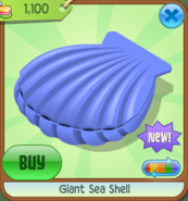 EW Giant Sea Shell blue