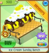 Ice Cream Sunday Bench yellow
