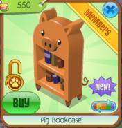 PigBookcaseOrange