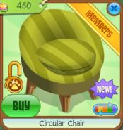 Shop Circular-Chair Yellow