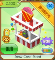 Snow Cone Stand Red