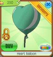 Green Heart Balloon
