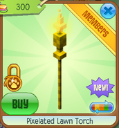 Pixelated lawn torch 2