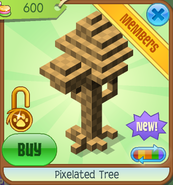 Shop Pixelated-Tree Brown